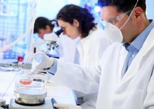 Biotech Scientists working in Lab Photo