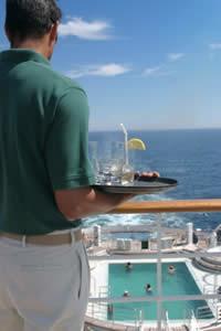 Waiter on a Cruise Ship Photo